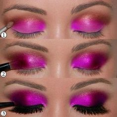 Hot Pink Eye Look. Who would have thought that hot pink eye shadow could look so elegant?