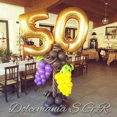 #dolcemania #palloncini #puglia #italia #italy #vino #uva #wine #grapes #idea #compleanno #festa #balloon #balloons #cinquanta #sangiovannirotondo #gargano #foggia