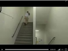 Escherian Stairwell at Rochester Institute of Technology in New York - very unusual (video)