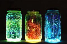 Sei mal im Mittelpunkt mit diesen WUNDERSCHÖNEN 'Glow in the dark' Gläser (Geheimtipp) - DIY Bastelideen