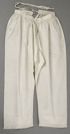 Drawers    Date:      1850s  Culture:      American  Medium:      cotton