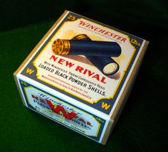 Vintage rare reproduction shotgun shell boxes from: shotgunshellboxes.com