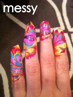 fingernail polish art tutorial