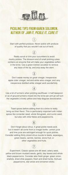 Pickling Tips