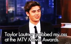How to handle gay rumors. Taylor Lautner and Zac Efron lol I love this so much