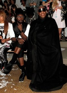Will.i.am en Andre Leon Talley - Front row @ New York Fashion Week - Gespot - Celebs