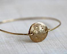 Full+moon+bangle+bracelet+por+PraxisJewelry+en+Etsy,+$36.00