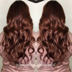 Gold, copper, and red violet mixed for this colormelt @jacqueline_hairstylist