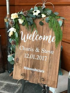 Bloomers can even create custom wedding signs for your special day! We can create any size, any saying in any color you like! #allentownnj #florist #customweddingsigns #bloomersnthings