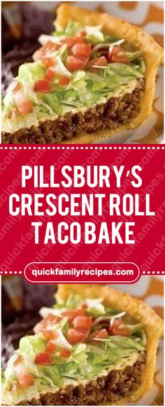 pillsburys crescent recipes family quick roll taco bake Pillsburys Crescent Roll Taco Bake Quick Family RecipesYou can find Pillsbury recipes and more on our website Taco Pie Recipes, Easy Casserole Recipes, Mexican Food Recipes, Taco Casserole, Tailgating Recipes, Pillsbury Crescent Recipes, Crescent Roll Recipes, Quick Family Meals, Family Recipes