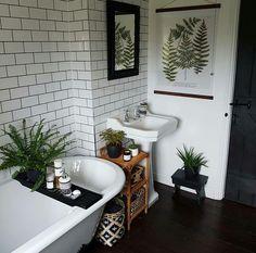 Neutrals, warm wood, botanical designs - Neutrals, warm w Home Interior, Bathroom Interior, Interior Design, Parisian Bathroom, Bathroom Inspiration, Home Decor Inspiration, Decor Ideas, Botanical Bathroom, Botanical Interior