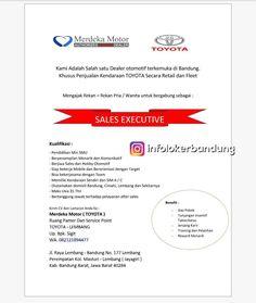 Lowongan Kerja Merdeka Motor ( TOYOTA ) Lembang Bandung Desember 2017