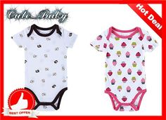 Newborn Infant Baby Boy Girl Kids Cotton Romper Jumpsuit Bodysuit