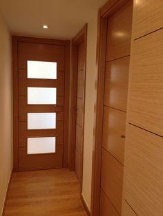Marron intermedio con suelo y puertas roble puertas for Decoracion combinar suelo y puertas
