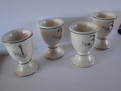 Vintage egg cup set Paris Apartment style set of 4 by tjmccarty