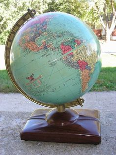 Globe from the '50's. The countries are all wrong, but it's a classic.
