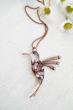 Hey, I found this really awesome Etsy listing at https://www.etsy.com/listing/269267318/mosaic-hummingbird-necklace-unique