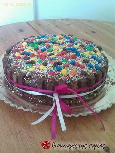 Παιδική τούρτα sintagespareas #tourta #pedikoparty Cooking, Sweet, Party, Desserts, Recipes, Food, Birthday Cakes, Kitchen, Candy