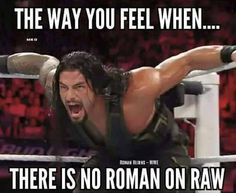 The way I feel when there is no Roman on any WWE show I am watching! Or you MISSED him :-( Wrestling Memes, Wrestling Superstars, Wwe Funny, Roman Regins, The Shield Wwe, Wwe Roman Reigns, Wwe Tna, Wwe World, Bae
