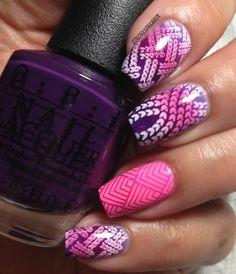 Colores de Carol: Purple Gradient and gradient stamping; MoYou Fashionista 04
