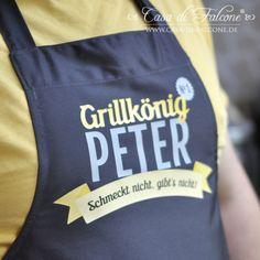 personalisierte Küchenschürze Grillkönig personalized BBQ Apron