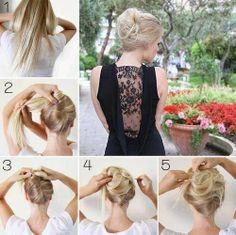 learn! how to braid hair style bun in 5 step