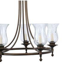 Hampton Bay Grace 5-Light Rubbed-Bronze Chandelier-14689 - The Home Depot