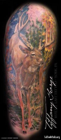 Whitetail deer tattoos buck whitetail deer tattoos for Whitetail deer tattoos