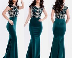 Rochie de seara lunga verde inchis cu corset brodat Prom Dresses, Formal Dresses, Backless, Fashion, Tulle, Green, Embroidery, Dresses For Formal, Moda
