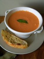 I don't eat a lot of soup, but when I do crave it, this is my go-to recipe. It's from Dan Barber of New York's Blue Hill and it's one of my all-time favorite recipes, ever. I can't get enough...