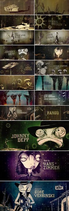 Rango - Hyejung Bae. Motion graphic design and title sequence