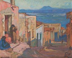 Peinture Algérie - Vue de la baie d'Oran par Augustin Ferrando