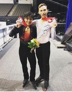 Shoma Uno(JAPAN) and Adam Rippon(USA)