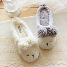 """Kawaii cartoon couple home slippers $27 PLUS get 10% discount quote """"Char"""" at the checkout"""
