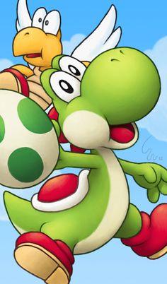 Mario: Yoshi by Stefan Ribera Olsen Super Mario Bros, Super Mario World, Super Smash Bros, Yoshi, Diddy Kong, Nintendo Characters, Mario Party, Cute Dinosaur, Mario And Luigi