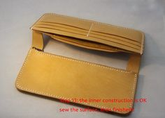 tutorial for long wallet leather Not for sell by LZpattern on Etsy