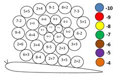Działania arytmetyczne - dodawanie Mickey Coloring Pages, Math Activities, Homeschool, Classroom, Hacks, Teaching, Games, Lyrics, Learning Numbers