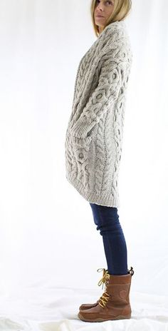 Vince 12/18 is a simple to knit, simple to wear oversized sweater. Perfect for a cozy coat!
