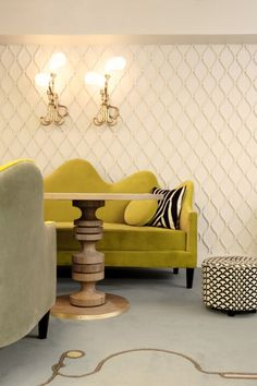 Lobby in Hotel Thoumieux, Paris, France, interior design by India Mahdavi