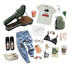 """i need somebody"" by kampow ❤ liked on Polyvore featuring Shin Choi, Emile et Ida, Levi's, Monki, Stampd and She's So"