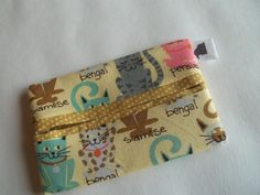 Tissue holder case cotton lined purse by BlackRavenCreations, $5.99