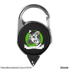 Cute zebra cartoon badge holder