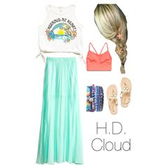 Tween fashion Mermaid! I love the idea of graphic shirts that are cropped with a long maxi skirt! So cute!
