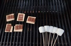 s'mores! (hint, the secret is in melting the chocolate!)