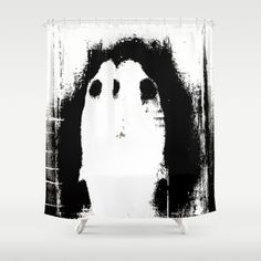 Buy Shower Curtains featuring « profil » by linda vachon. Made from 100% easy care polyester our designer shower curtains are printed in the USA and feature a 12 button-hole top for simple hanging.