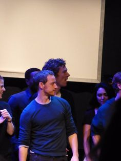 James McAvoy & Benedict Cumberbatch :: The Children's Monologues at  Royal Court Theatre Oct 25, 2015, London, England