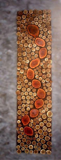 MADE TO ORDER 12x48 Rustic Modern Tribal Decor Tree Branch Wall Art Plum Serpent on Sumac Wall Sculpture