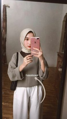 Casual Hijab Outfit, Ootd Hijab, Ootd Poses, Hijab Style Tutorial, Street Hijab Fashion, Hijab Fashion Inspiration, Online Shopping Clothes, Ideas, Pictures
