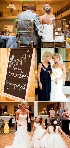 instagram - assign a hashtag for guests' instagram photos of the wedding