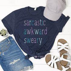 Sarcastic Awkward Sweary Shirt, Funny Sarcasm Shirt - S